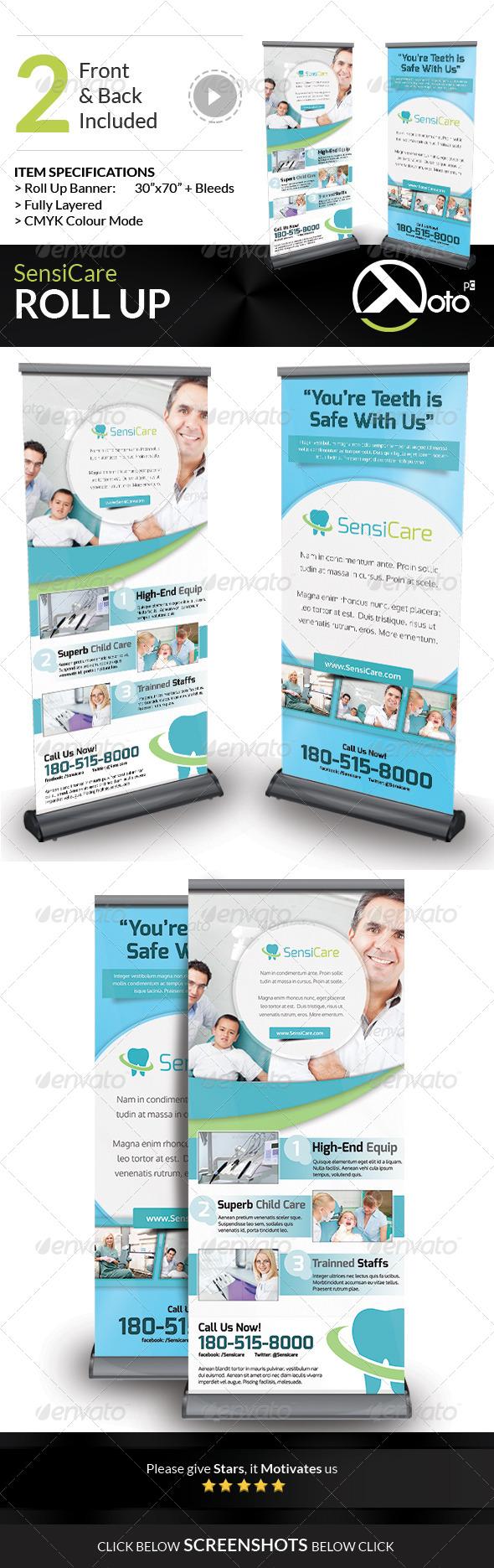 GraphicRiver SensiCare Medical Dental Health Roll Up 7899661