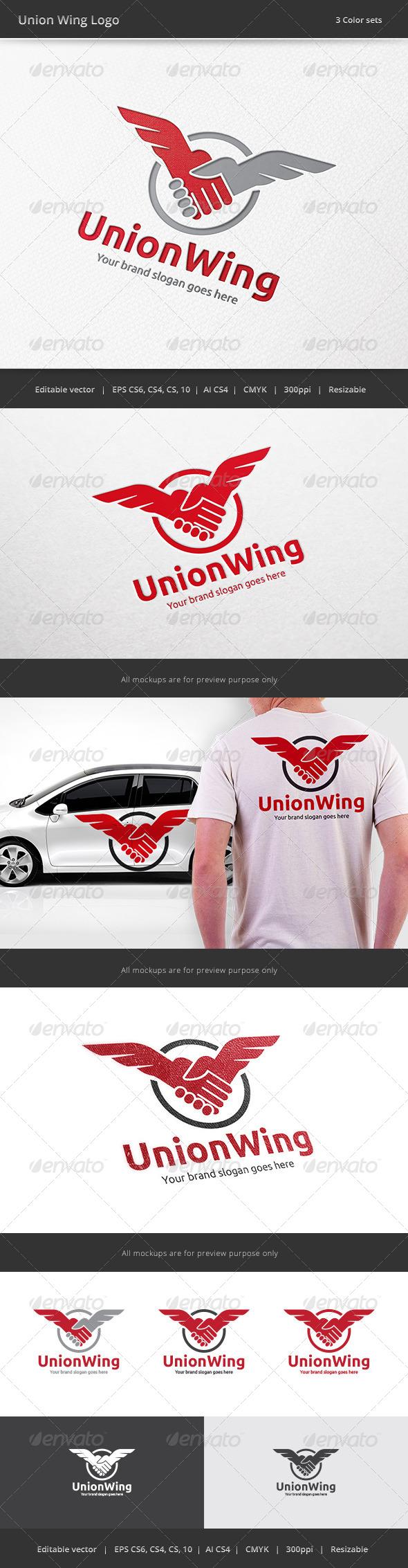 GraphicRiver Union Wing Logo 7899741