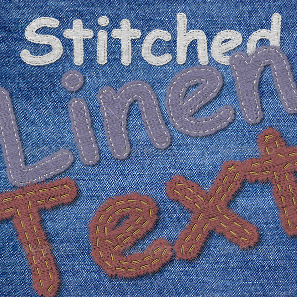 GraphicRiver Stitched Linen Text Generator 7899749