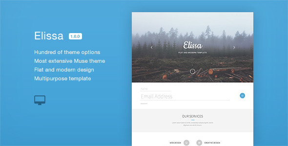 Elissa - Multipurpose One Page Muse Template - Creative Muse Templates