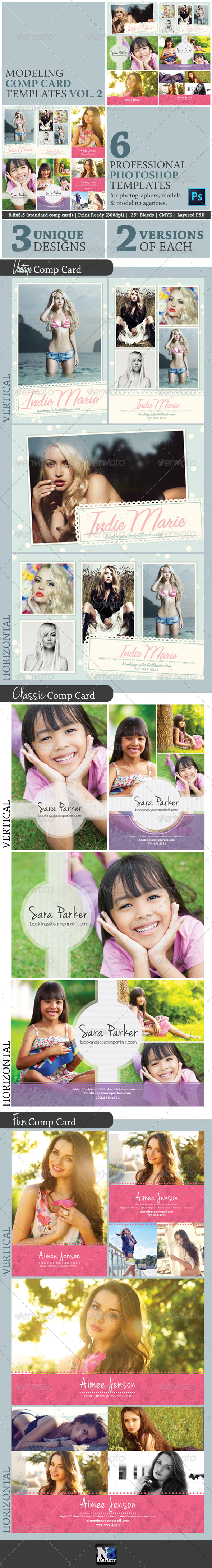GraphicRiver Model Comp Card Template Kit Vol 2 7899970