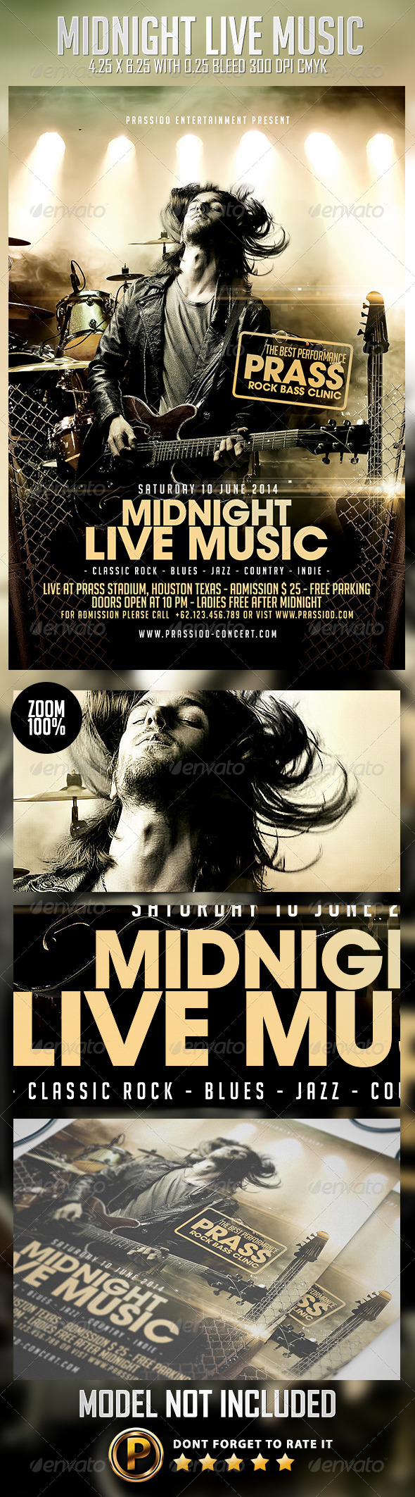 GraphicRiver Midnight Live Music Flyer Template 7900052