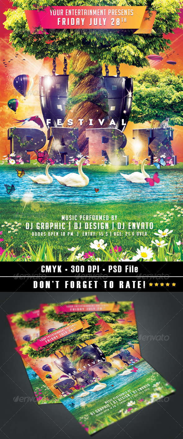 GraphicRiver Park Festival flyer 7900063