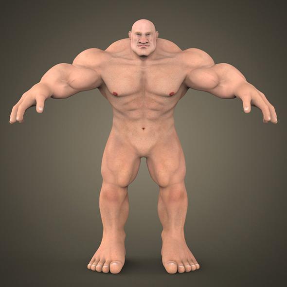 3DOcean Fantasy Muscular Man 7900278