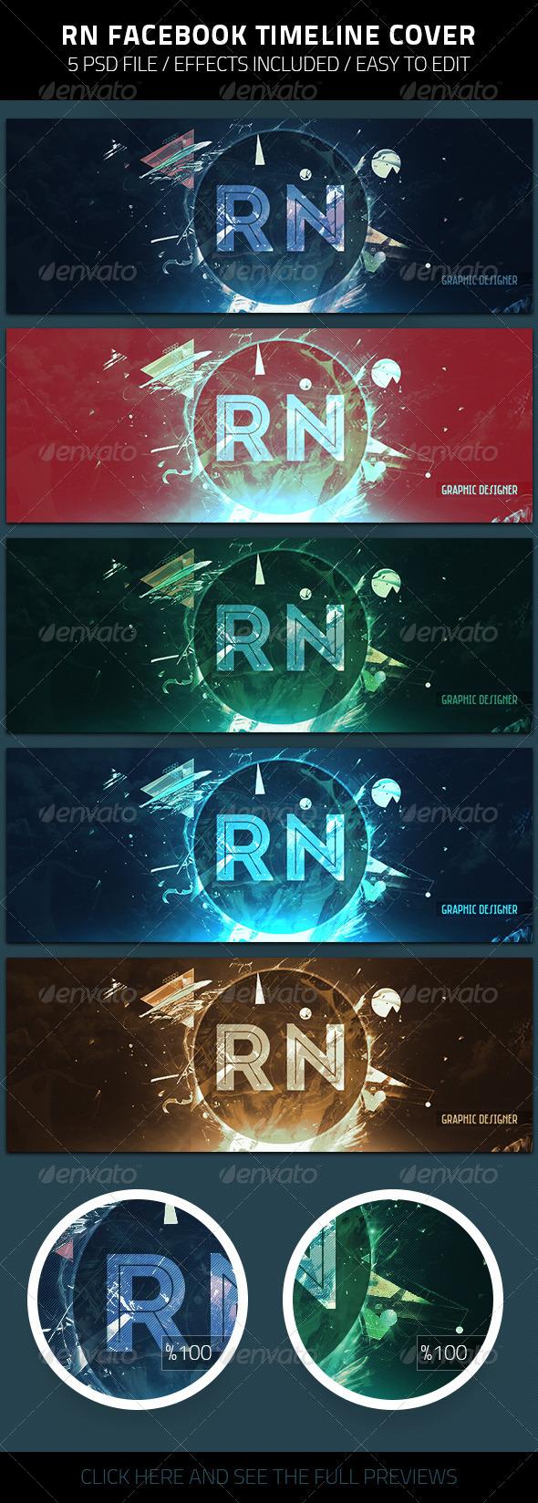 GraphicRiver RN Graphic Designer Facebook Timeline Cover 7900332
