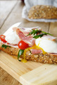 Bacon and poached eggs sandwich - PhotoDune Item for Sale