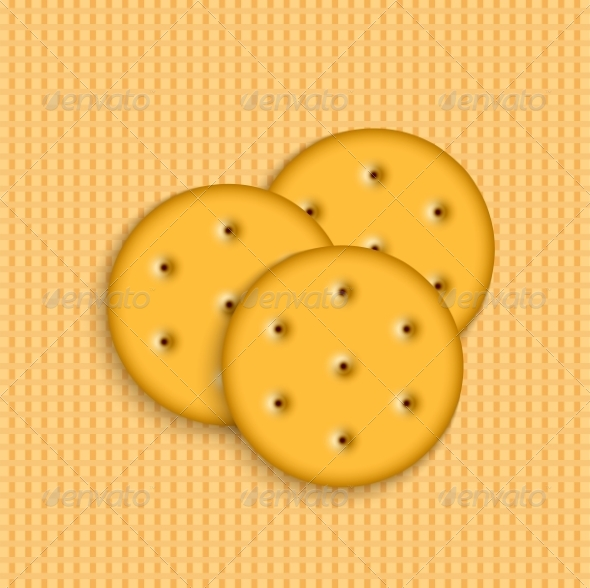 Crackers on Striped Background