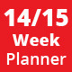 Weekly Planner | 2014 | 2015 - GraphicRiver Item for Sale