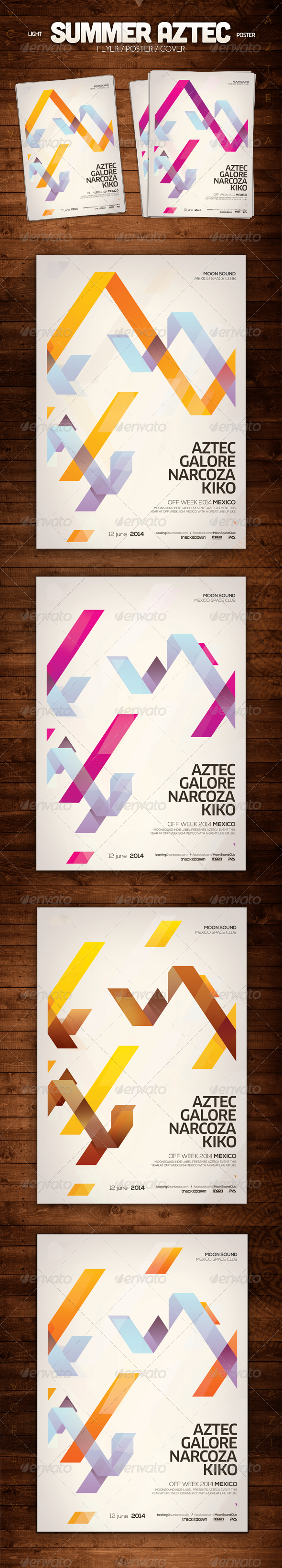 Summer Aztec Poster - Clubs & Parties Events
