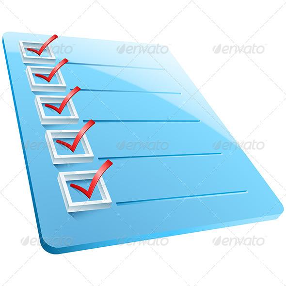 GraphicRiver Checkmarks Board 7900808