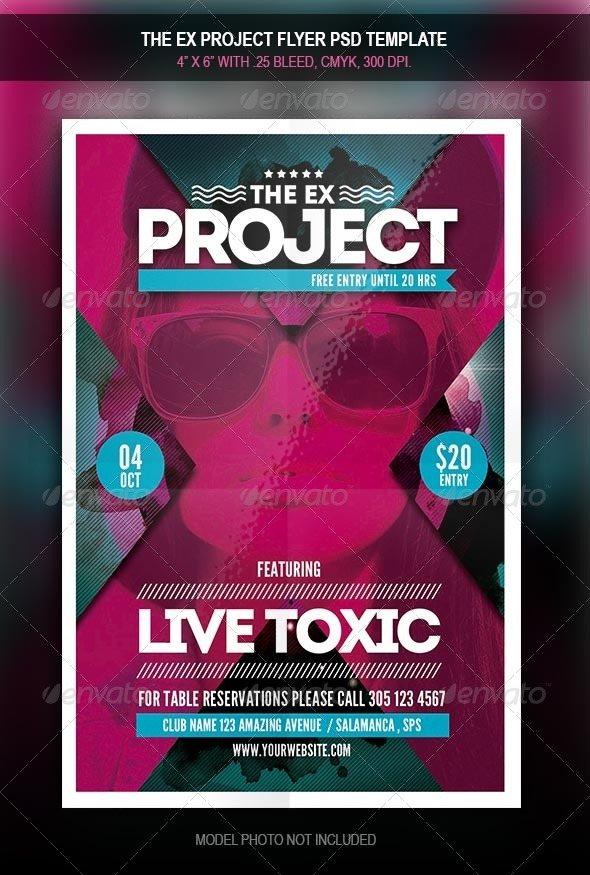 GraphicRiver The X Project Flyer Template 7900828
