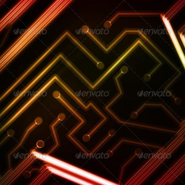 GraphicRiver Neon Circuit Board 7900835