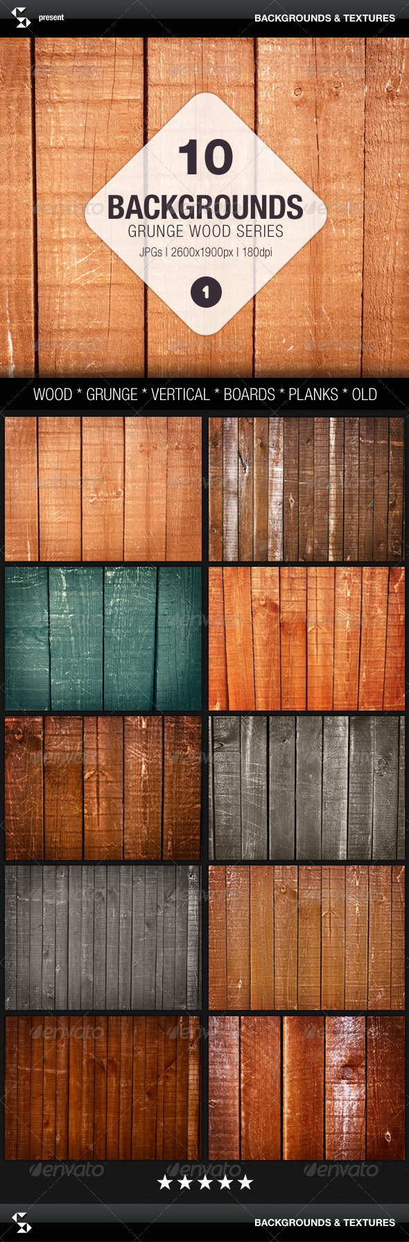 GraphicRiver Grunge Wood Background Series 01 Wood Textures 7901199