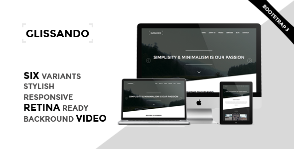 ThemeForest Glissando Creative One Page HTML5 Template 7901434