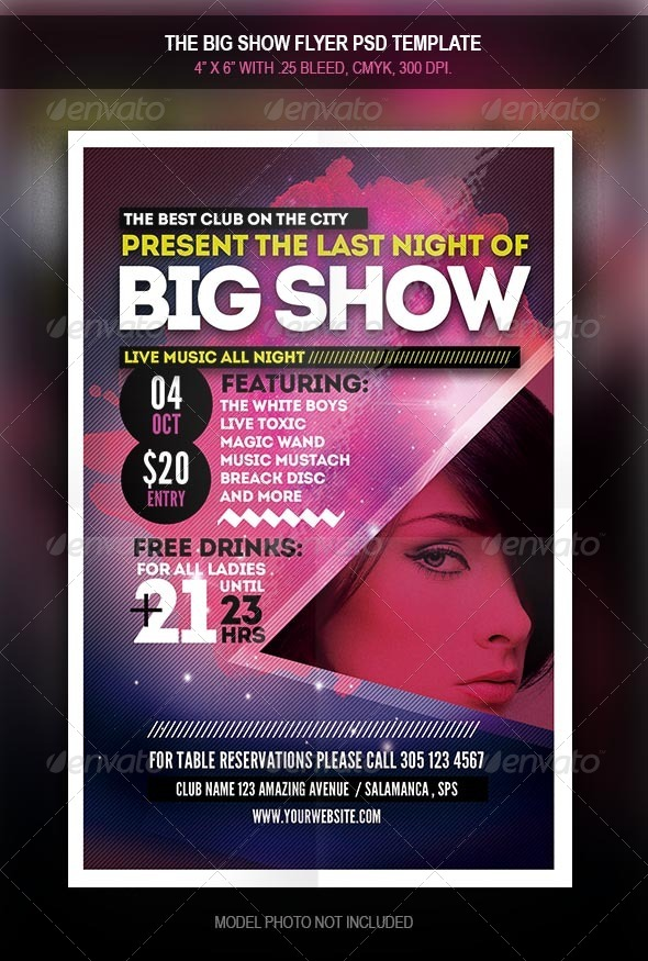 GraphicRiver The Big Show Party Flyer 7901435