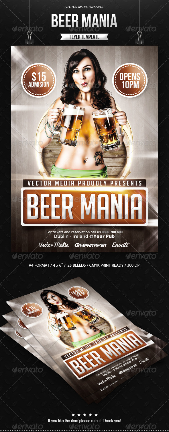 GraphicRiver Beer Mania Flyer 7901436