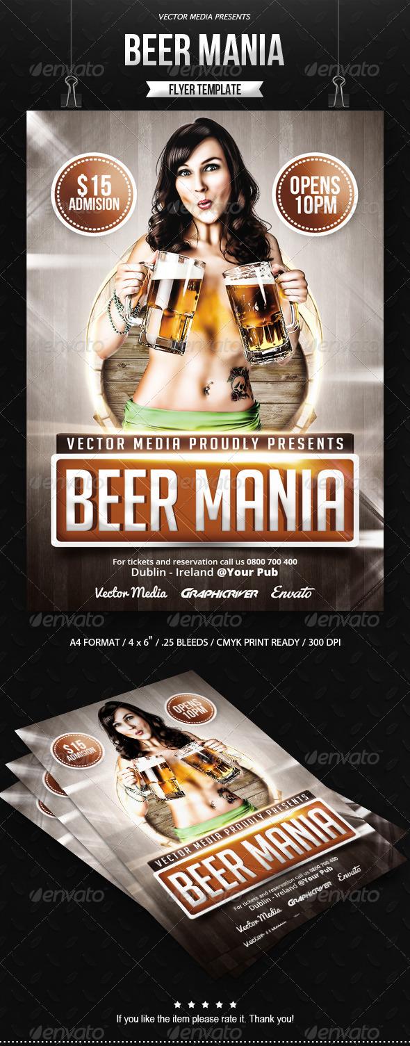 GraphicRiver Beer Mania Flyer 7901436