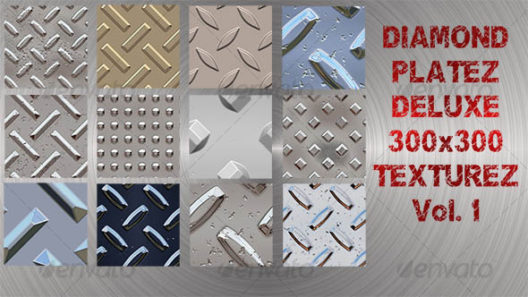 GraphicRiver Diamond Platez Deluxe Texture Pack TDD 33542