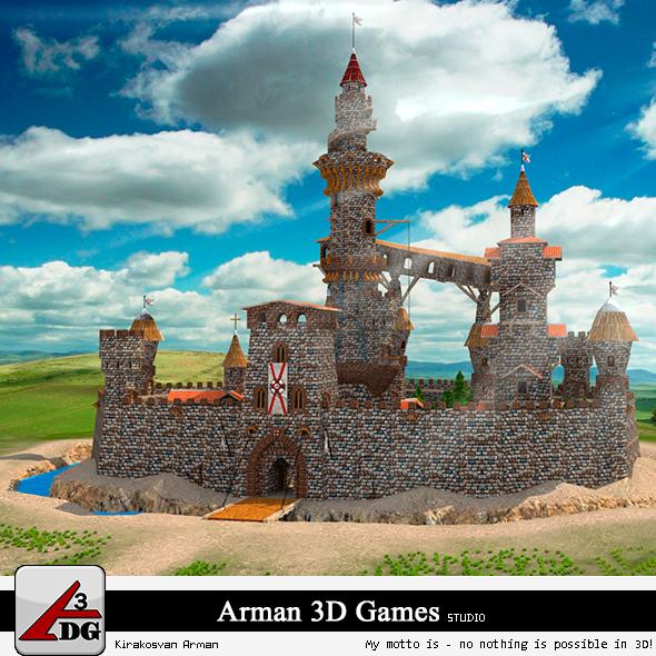 3DOcean Fairytale Castle 7901560