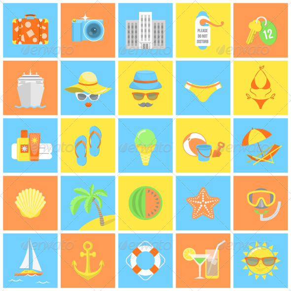 GraphicRiver Summer Icons 7901569