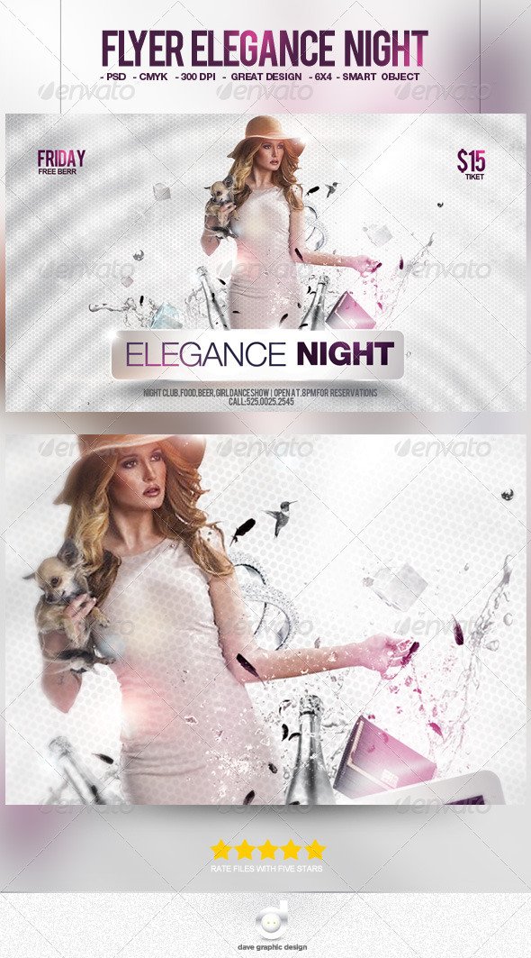 Flyer Elegance Night - Clubs & Parties Events