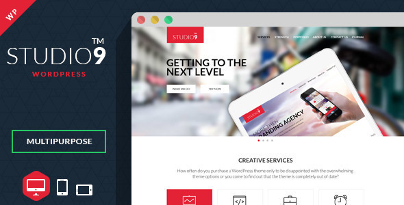 Studio9 - One Page WordPress Theme - Portfolio Creative