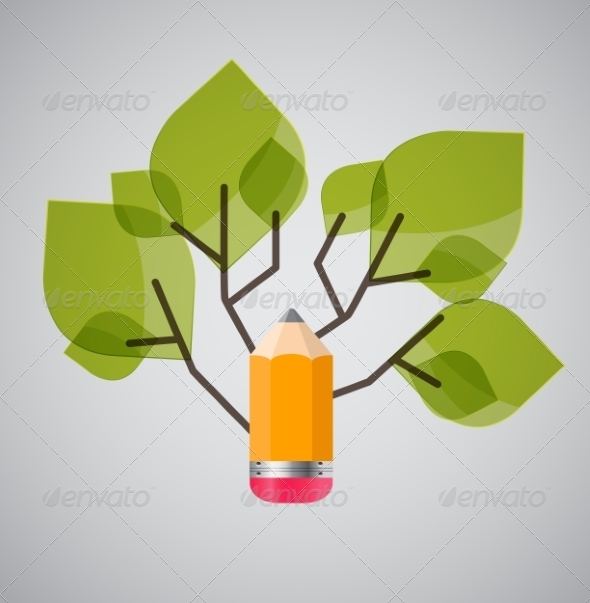 GraphicRiver Tree of Knowledge Concept Illustration 7901658