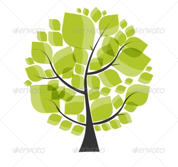 GraphicRiver Green Tree 7901659