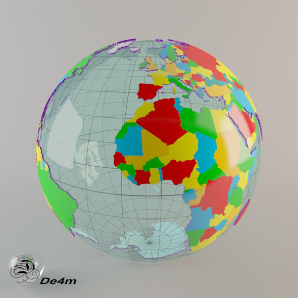 3DOcean World Globe political 7901666