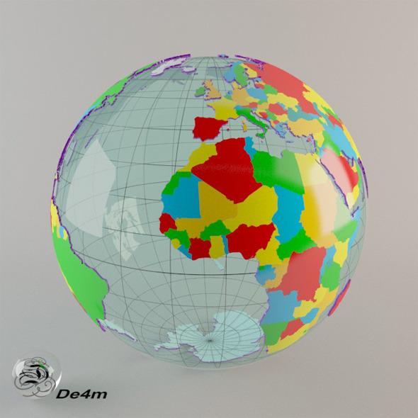 World Globe political