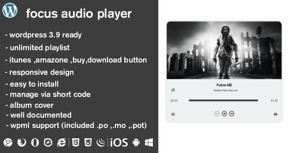 CodeCanyon Focus Audio Player With Playlist WP Plugin 7901836