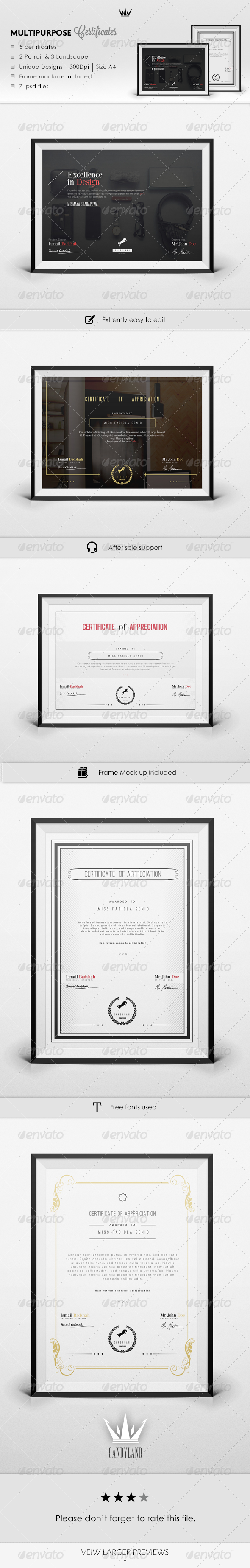 Certificate Pack 2
