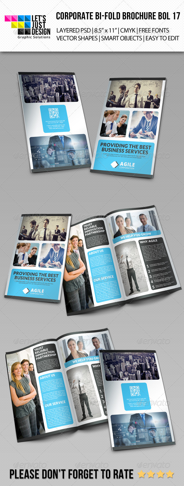 GraphicRiver Corporate Bi-Fold Brochure Vol 17 7901982