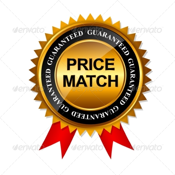 GraphicRiver Price Match Guarantee Gold Label Sign 7902103