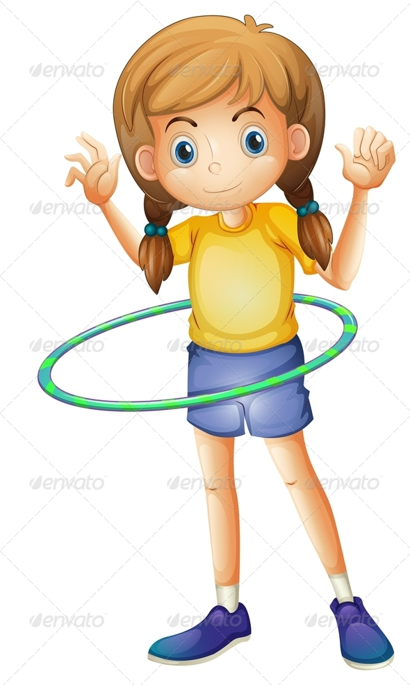 GraphicRiver Girl with Hulahoop 7902280
