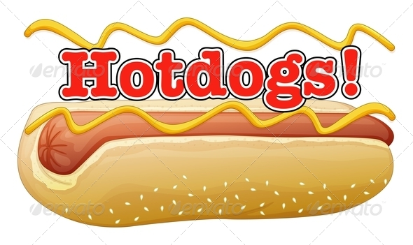 Hotdog in a Bun with Label