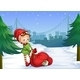 Elf with Sack Full of Gifts - GraphicRiver Item for Sale