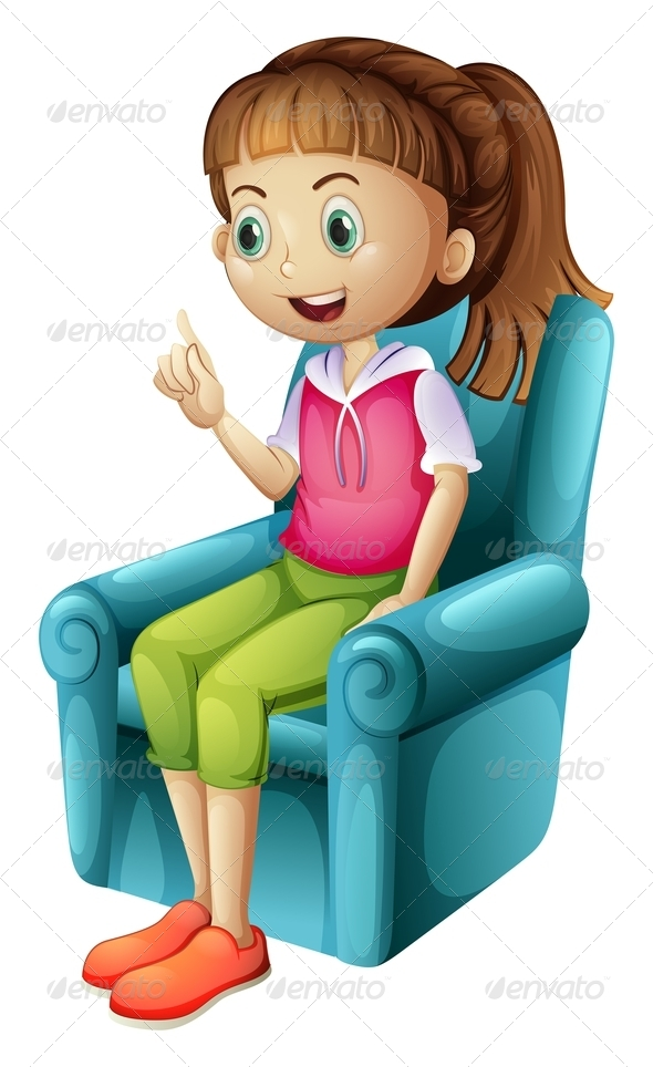 GraphicRiver Girl Sitting on Chair 7902313