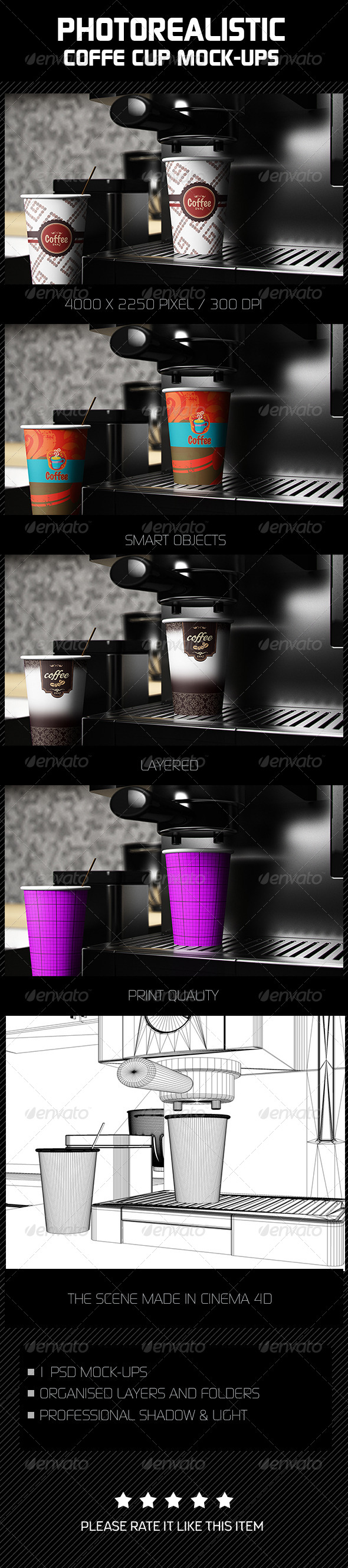 GraphicRiver Photorealistic Coffee Cup Mock-Ups 7902315
