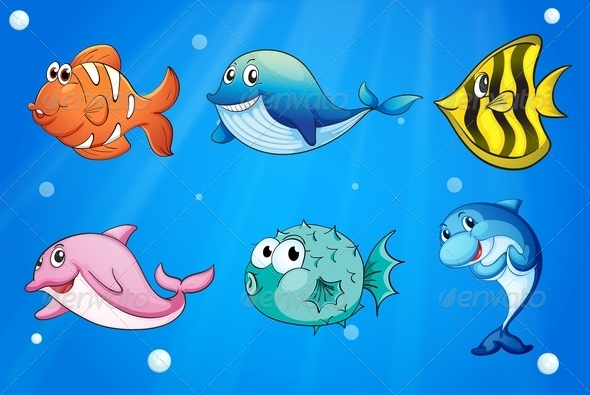 GraphicRiver Fishes Under the Sea 7902399