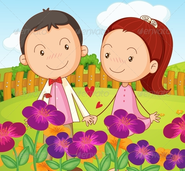 GraphicRiver Couple in the Garden 7902612