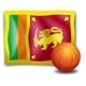 Basketball with Flag of Sri Lanka - GraphicRiver Item for Sale