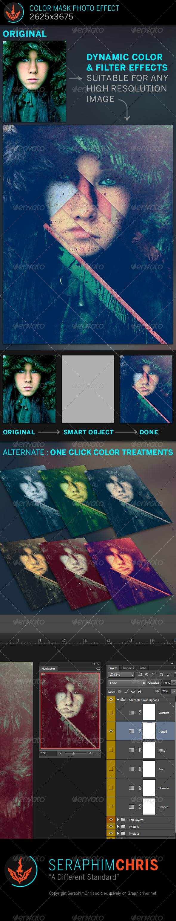 Color Mask Photo Effect Template