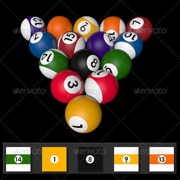 Pool Balls Textures - 3DOcean Item for Sale