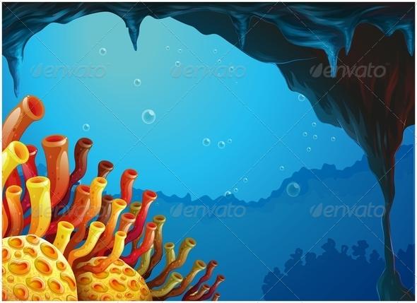 GraphicRiver Under Sea Scene 7902689