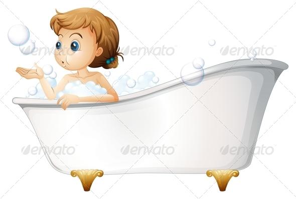 GraphicRiver Girl Taking a Bath 7902717