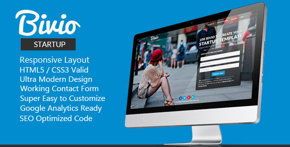 ThemeForest Bivio Startup Responsive HTML5 Template 7828061
