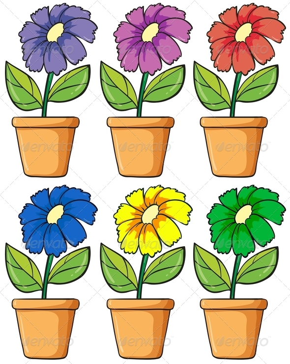 GraphicRiver Pots with Flower 7902887