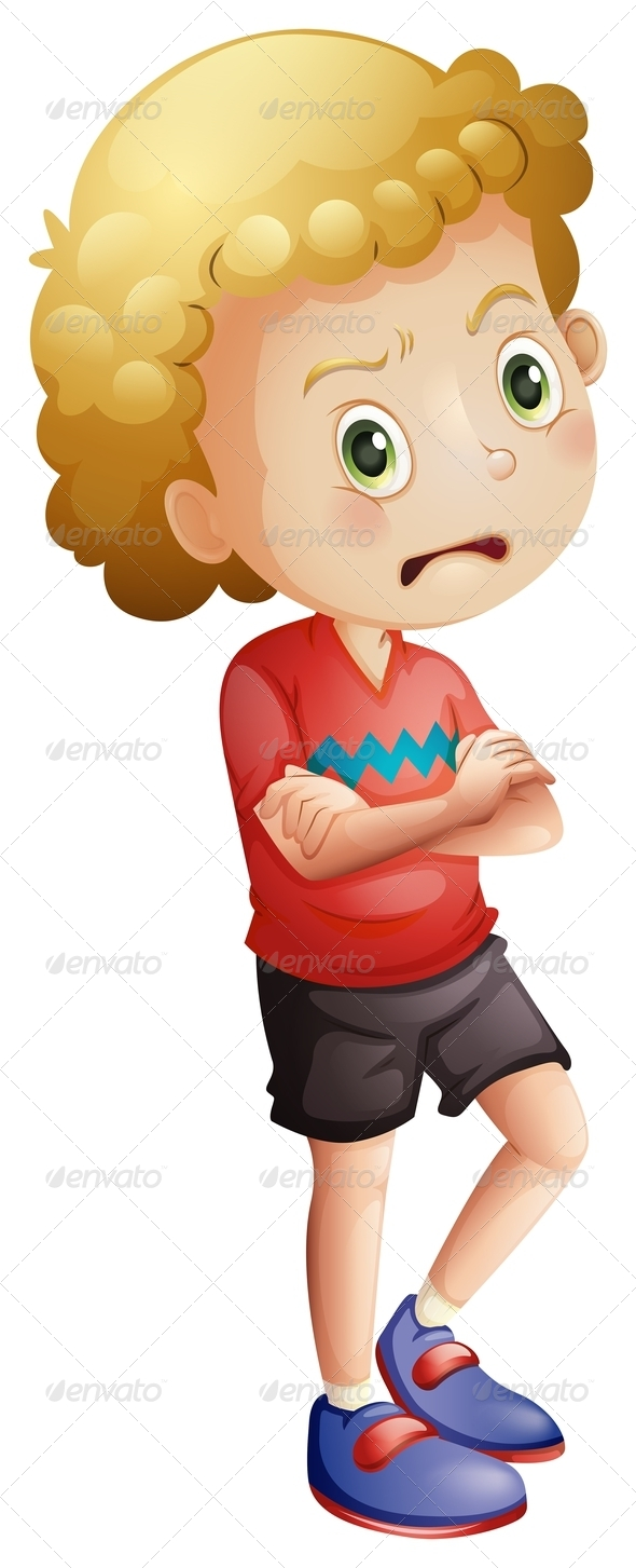 GraphicRiver Angry Little Boy 7902905