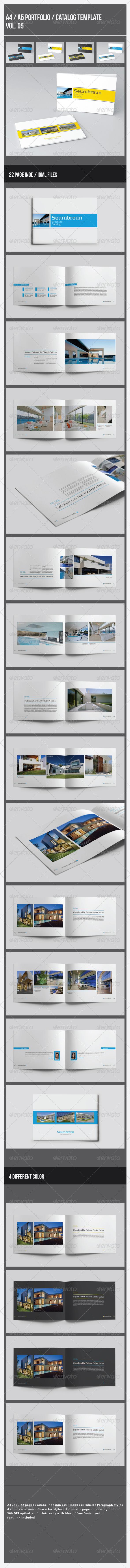 GraphicRiver A4 A5 Portfolio Catalog Template Vol.5 7902925
